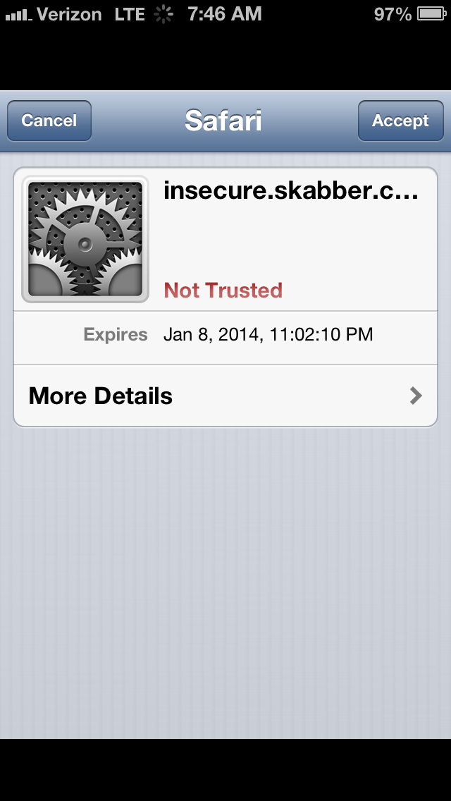 Iphone Apps Accepting Self Signed Ssl Certificates